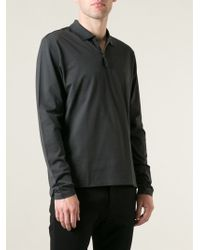 Lanvin Long Sleeve Polo Shirt - Lyst