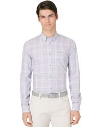 Calvin Klein Ombre Plaid Sport Shirt - Lyst