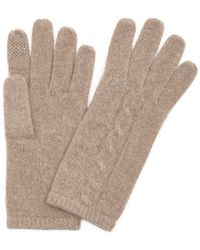 Portolano | Nile Brown Cable Knit Cashmere Itouch Gloves | Lyst