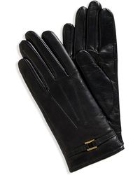 Hugo Boss Gl 235 | Leather Gloves With Buckle - Lyst