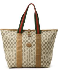 Gucci Coated Canvas Tote - Lyst