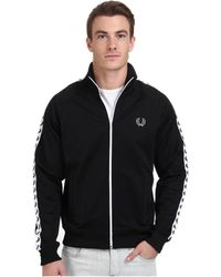 Fred Perry Laurel Taped Track Jacket - Lyst