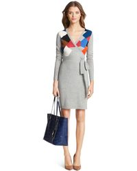 Diane von Furstenberg Dvf Leandra Sweater Wrap Dress - Lyst