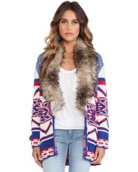 Mink Pink Legends Of The Forest Jacket with Faux Fur Trim - Lyst