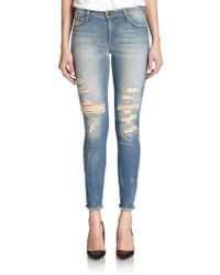 Joe's Jeans Distressed Skinny Ankle Jeans - Lyst