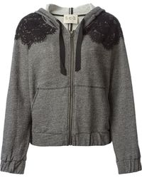 Sea Lace Panel Zipped Hoodie - Lyst