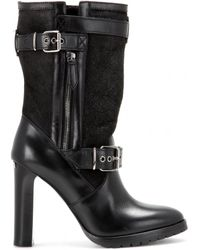 Burberry Brit - Harehills Leather Mid-Calf Boots - Lyst