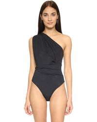 Preen By Thornton Bregazzi - One Shoulder Swimsuit - Lyst