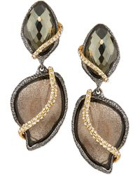 Alexis Bittar 2-stone Drop Earrings with Pave Vine - Lyst