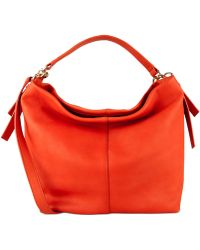 Cole Haan Lockhart Double Strap Hobo red - Lyst