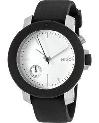 Nixon Women'S Raider Black Silicone White Dial Crystal Accent black - Lyst