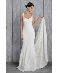 Nicole Miller Janey Bridal Gown white - Lyst