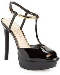 Jessica Simpson 'Carah' Platform Sandal black - Lyst