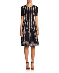 Shoshanna | Cleo Float-stitch A-line Dress | Lyst