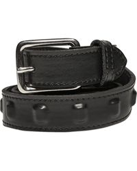 The Kooples | 35mm Internal Studs Leather Belt | Lyst