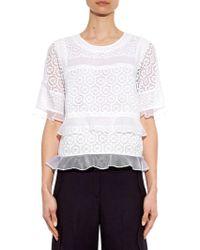 Rebecca Taylor Tile Crochet-Lace Top - Lyst