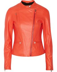 Mackage Mirela Leather Biker Jacket - Lyst