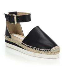 See By Chloé | Glyn Leather Espadrille Flatform Sandals | Lyst