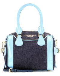 Burberry Prorsum Mini Bee Denim and Patent-Leather Shoulder Bag - Lyst