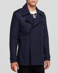 Kent And Curwen Peacoat - Lyst