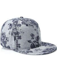 21men Floral-Patterned Snapback Hat - Lyst