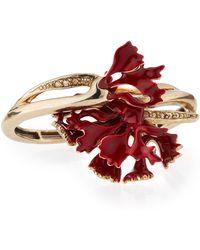 Oscar de la Renta   Swarovski Enamel Carnation Bracelet   Lyst