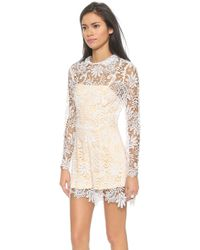 Charlie Jade - Lace Romper - White - Lyst