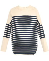 Adam Lippes Reworked Breton-Striped Top blue - Lyst