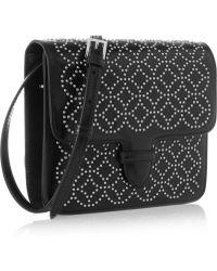 Alaïa Arabesque Mini Embellished Leather Shoulder Bag - Lyst