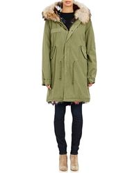 Mr & Mrs Italy - Fur-lined Canvas Long Parka - Lyst