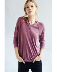 Truly Madly Deeply - Washed Out Hooded Top - Lyst