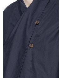 Uma Wang | 'dante' Drape Front Double Breasted Shirt | Lyst