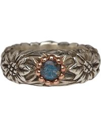 Laurent Gandini - Silver And Rose Gold Labradorite Ring - Lyst