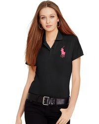 Polo Ralph Lauren Pink Pony Polo Shirt - Lyst
