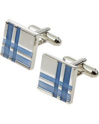 Link Up Square Plaid Cuff Links - Lyst