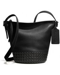 Coach Bleecker Grommets Mini Duffle Bag in Leather - Lyst