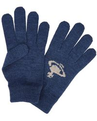 Vivienne Westwood - Blue Orb-intarsia Wool Blend Gloves - Lyst