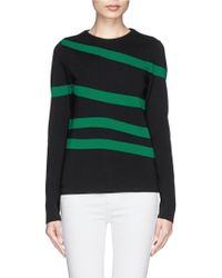 Chloé Stripe Virgin Wool Sweater - Lyst