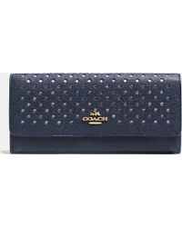 Coach Soft Wallet In Perforated Leather - Lyst