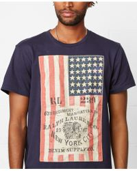 Denim & Supply Ralph Lauren Flag Applique T-Shirt - Lyst