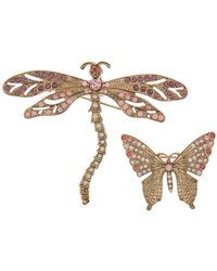 Accessorize - Dragonfly & Butterfly Brooch Set - Lyst
