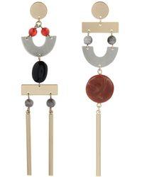 Accessorize - Zanzibar Mismatch Earrings - Lyst