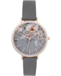 Accessorize - Arabella Ombre Floral Print Watch - Lyst