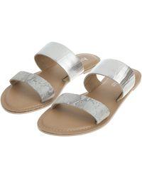 Accessorize - Dani Double Strap Sandals - Lyst