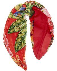 Accessorize - Fiesta Print Beaded Wide Fabric Hairband - Lyst
