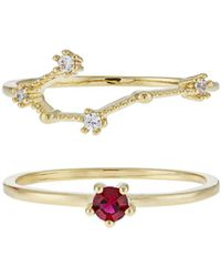 Accessorize - July Birthstone Stacking Ring Set - Lyst