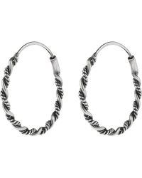 Accessorize - Sterling Silver Rope Hoop Earrings - Lyst