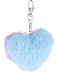 Accessorize - Heart Pom Bag Charm - Lyst