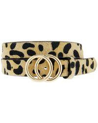 Accessorize - Double Hoop Leopard Print Jeans Belt - Lyst