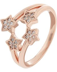 Accessorize - Rose Gold Open Flower Ring - Lyst